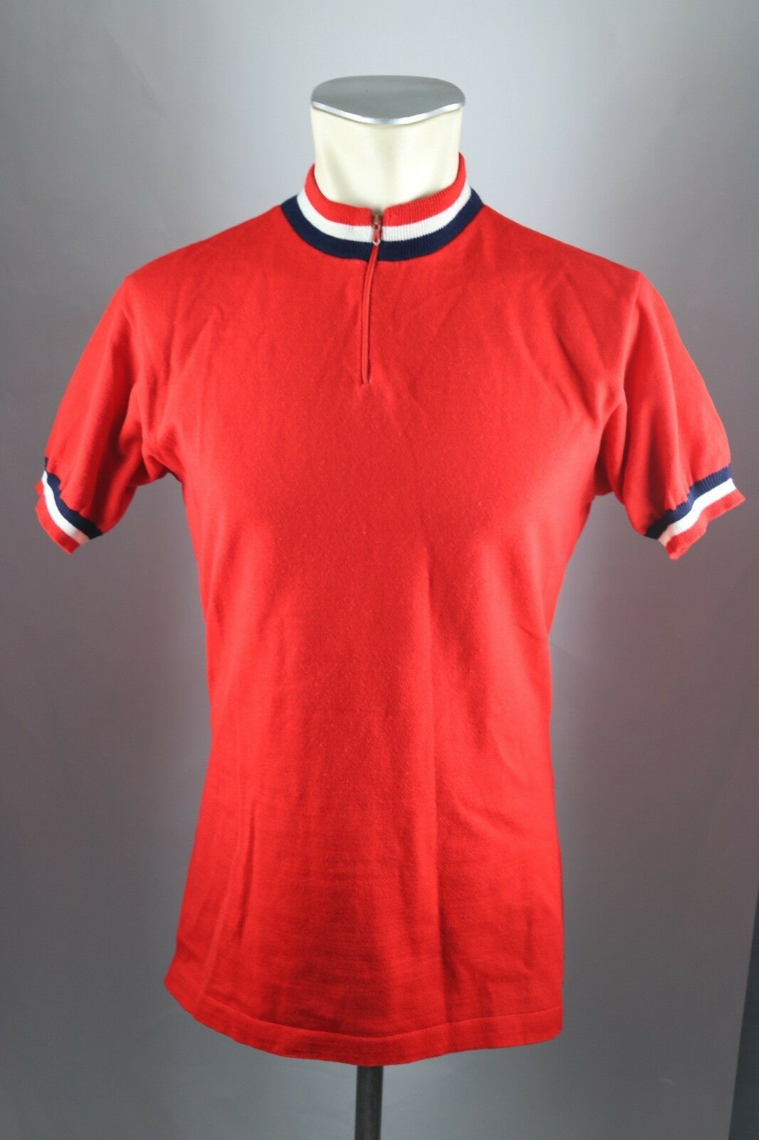 Vintage Radtrikot 70er 80er red Gr.  M 52cm cycling jersey Acrylic Wool Shirt F3  best prices and freshest styles