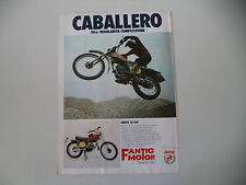 advertising Pubblicità 1975 MOTO FANTIC CABALLERO 50 RC MOD. TX 160