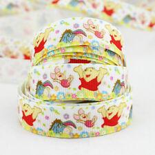 "Free shipping Disney 5 Yards 5/8""16mm printed Winnie the Pooh Grosgrain Ribbon"