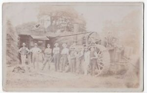 G-Cotton-Of-Grundisburgh-Threshing-Contractor-Group-With-Traction-Engine-RP-PPC
