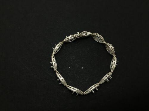 925 Sterling Silver Semi Mount Bracelet Setting 4 x 6 mm Ovale semi Mount Setting