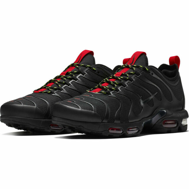 online retailer bb3d4 529dd Nike Air Max Plus TN Ultra Men's Shoes AR4234 002 Black University Red Volt  NIB
