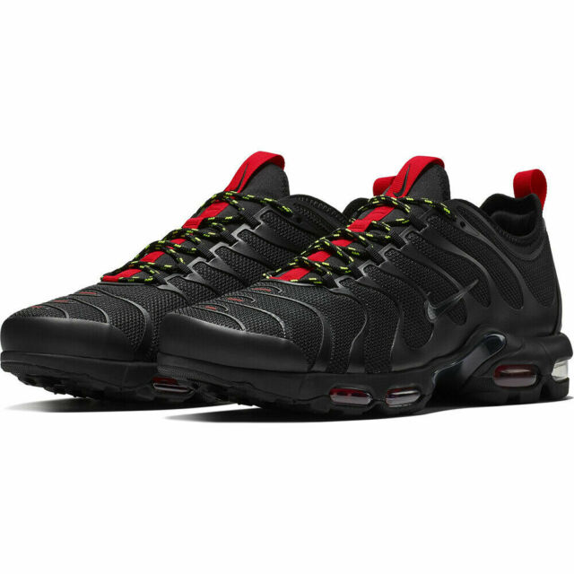 Nike Air Max Plus TN Ultra Men's Shoes AR4234 002 Black University Red Volt  NIB