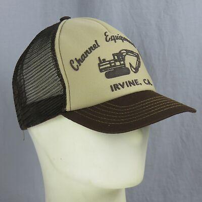Compiacente Vintage Canali Equipment Company Escavatore Cappellino Usa Irvine Cali
