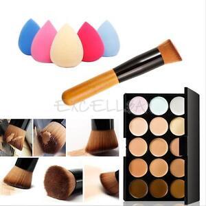 15-Colors-Contour-Face-Cream-Makeup-Concealer-Palette-Sponge-Puff-Powder-Brush