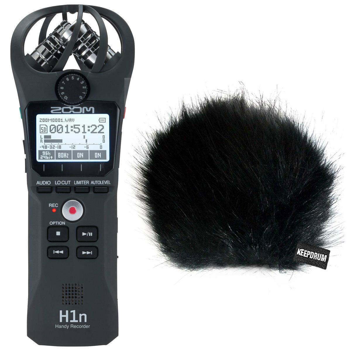 Zoom H1n + Hide Wind Predection