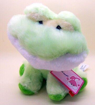 Aurora Stuffed animal plush Green Frog Spring Bubbles cute 6 inches