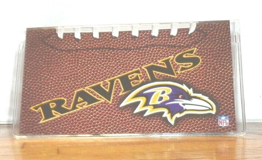 BALTIMORE RAVENS CHECKBOOK COVER. NFL FOOTBALL....FREE SHIPPING