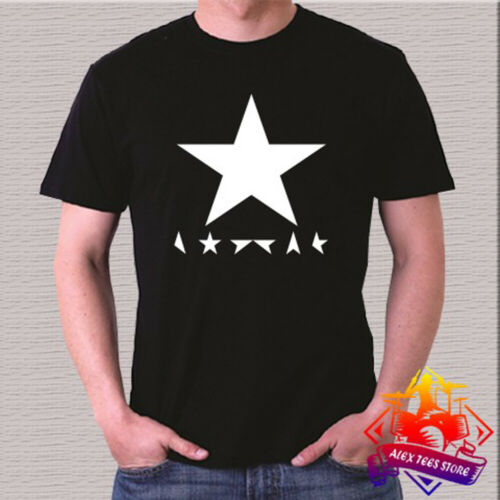 3XL David Bowie Singer Blackstar Album Logo Men/'s Black T-Shirt Size S