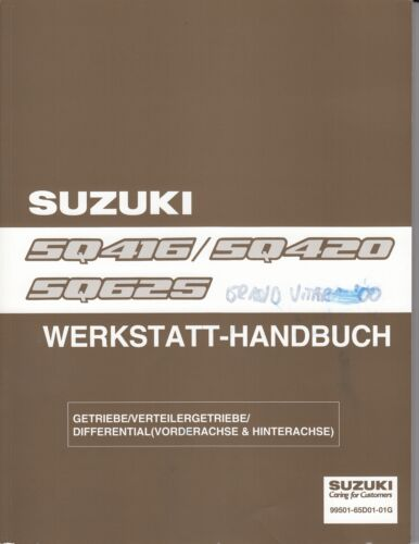 Officina Manuale ingranaggi//DIFFERENTIAL SUZUKI GRAND VITARA 98-05