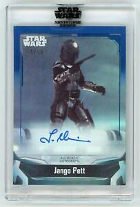 2021 Star Wars Signature Series Autographs Blue #ATM Temuera Morrison as Jango F