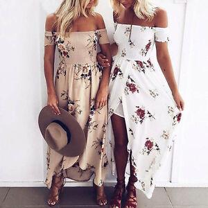 UK-Women-Maxi-Summer-BOHO-Floral-Beach-Long-Dress-Ladies-Evening-Party-Sundress