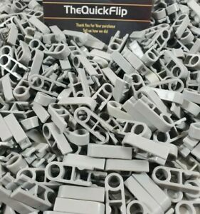 500 KNEX GRAY SINGLE END CLIP CONNECTORS 1-Position w//Hole Bulk Part//Pieces Lot