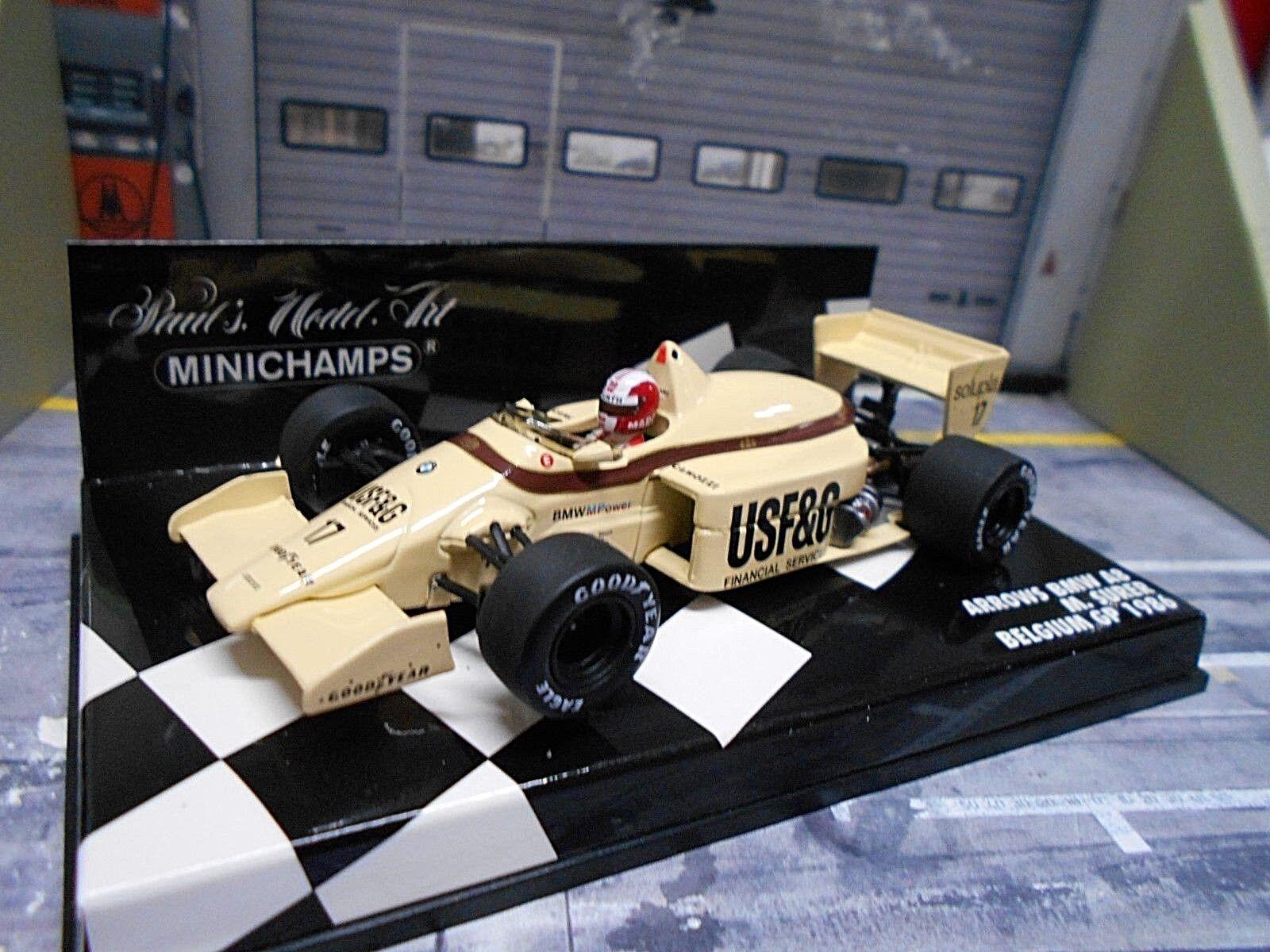 F1 Arrows BMW Turbo a8 GP Belgique 1986  17 Surer USAF & G MINICHAMPS RAR 1 43