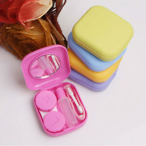 Men's Glasses Responsible New Easy Carry Mini Pocket Contact Lens Cases With Mirror Kit Travel Convenient Contact Lens Case Container For Outdoor Back To Search Resultsapparel Accessories