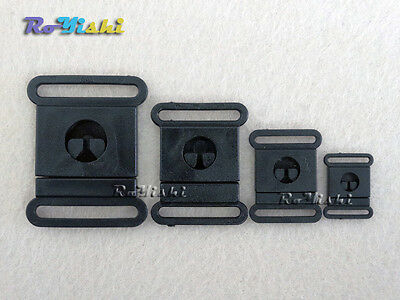 Plastic Black Safty Breakaway Buckles For Paracord Webbing 10mm/15mm/20mm/25mm