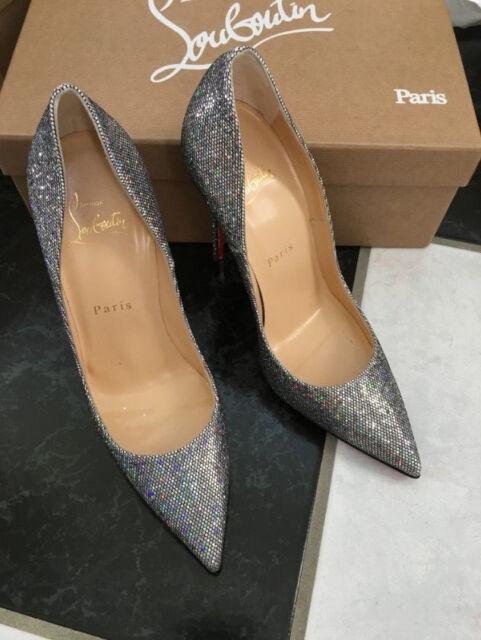 sale retailer 6a36a 2afde 100 Auth Christian Louboutin so Kate Glitter Disco PUMPS Sz 36.5