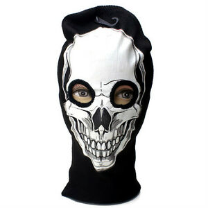 e0ec916969a White Balaclava Skull Beanie Full Face Mask Winter Snow Ski 3 Hole ...