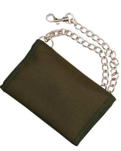 Da Uomo Esercito Combattimento Militare Custodia Da Viaggio Zip Wallet CATENA Nylon UTP Multi Mimetico