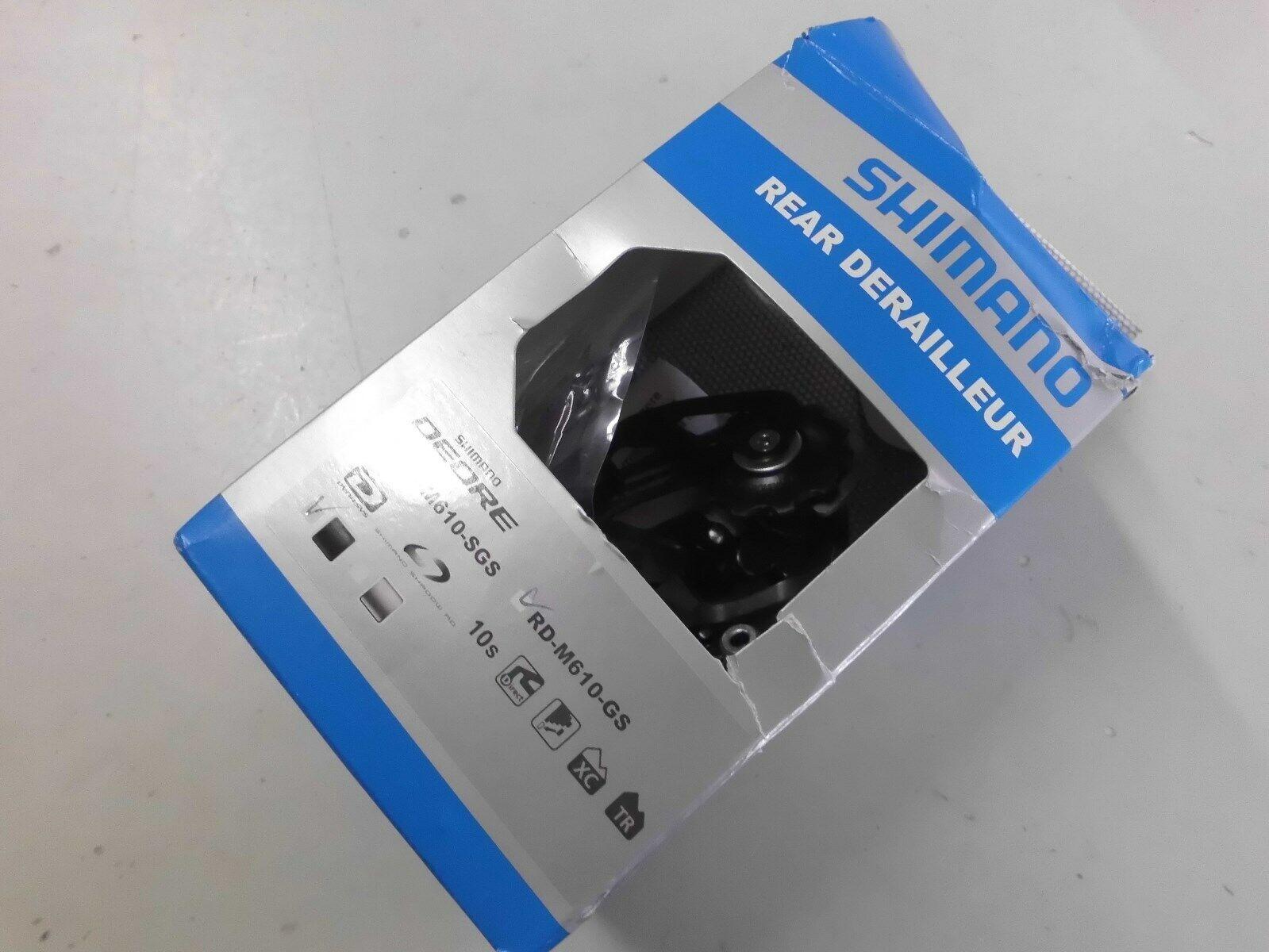 SHIMANO 10fach DEORE DEORE DEORE RD-M610 GS schwarz Schaltwerk mittellanger Käfig 90ce3c