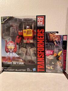 Transformers Titans Return Blaster and Stripes MIB LOT!