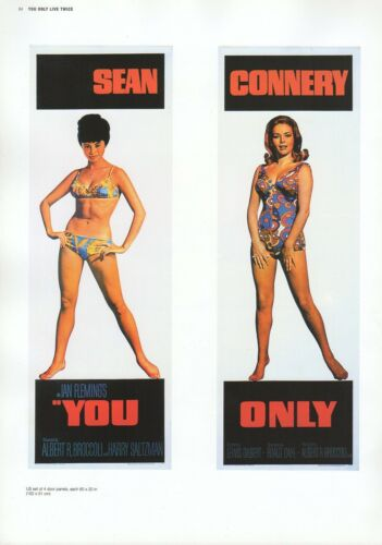 """2002 Vintage JAMES BOND /""""YOU ONLY LIVE TWICE/"""" MINI POSTERS Art Plate Lithograph"""