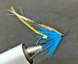 sizes 6-14 available 3 x Blue Charm salmon fly doubles