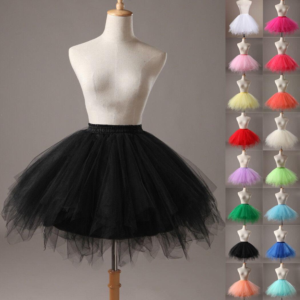 Hot Women Adult Lady Tutu Tulle Skirt Fancy Skirt Dress Up Party Dancing Dress 4