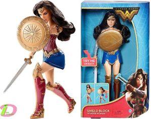 Wonder-Woman-Sheild-Block-Doll-12-Inch-Action-Pose-Battle-Ready-DC-comics