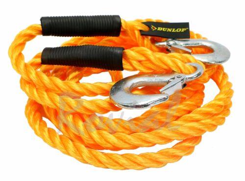 Dunlop Abschleppseil 5000 kg mit 2 Haken Schleppseil Abschlepphilfe Zugseil PKW