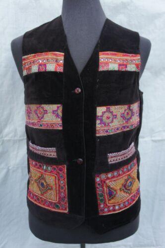 Czech Folk Festival Men Embroidered Velvet Vest SP