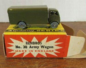 BENBROS MIGHTY MIDGET 30 'ARMY WAGON '. QUALITOY SERIES.W /BOX