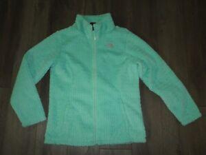 2d894e87f Details about Girl's THE NORTH FACE Laurel Fuzzy Fleece Full Zip Jacket  Coat Size XL 18 Mint