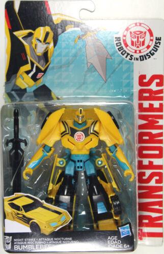 Transformers Warrior Class ~ NIGHT STRIKE BUMBLEBEE Figure ~ Robots in Disguise