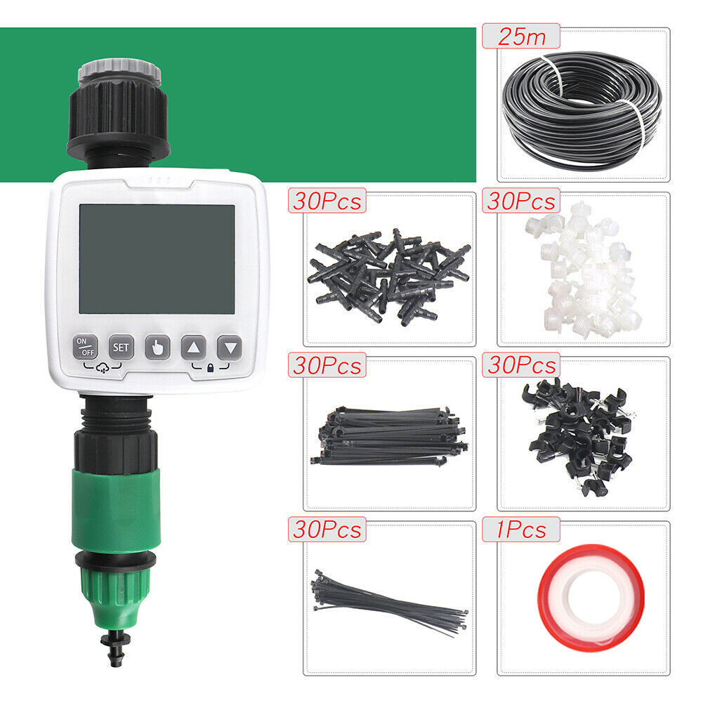 25M Micro Drip Irrigation System Watering Kit Smart Garden Automatic Plant Tools