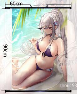 Anime azur lane bremerton Wall Home Decor Scroll Poster Gift Custom 60X90cm