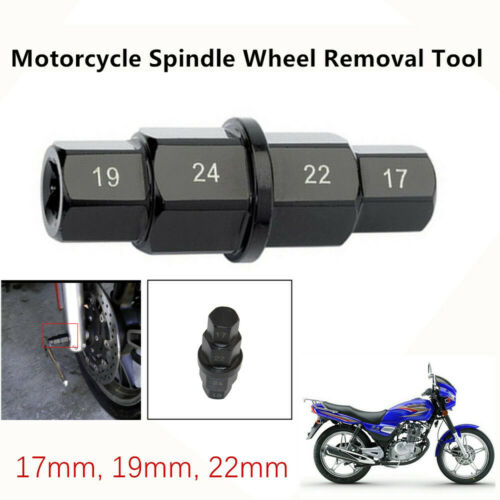 1pcS Motorcycle Front Wheel 17 19 22 24mm Hub Axle Hex Allen Spindle Driver Tool
