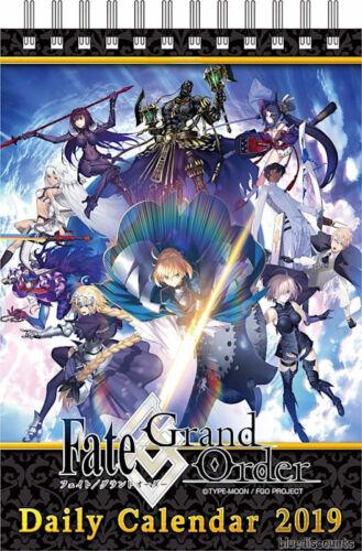 DHL Fate//Grand Order Official Desktop 2019 Daily Calendar FGO Good Smile Company