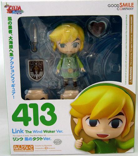 La Leyenda de Zelda  The Wind Waker enlace Nendoroid figura Good Smile Company 413