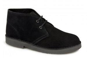 Roamers Suede Black Desert Boot Unisex Black Suede Size 12 Mens ffe629