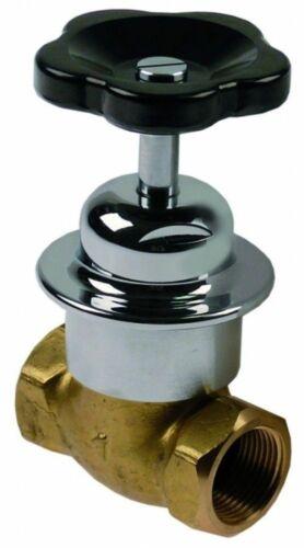 H 140mm Messing Dampfventil gerade Anschluss 1 IG Baulänge 90mm