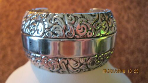 Beautiful Silver Looking Cuff Bracelet  but a beau