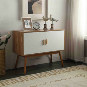 Image Is Loading Modern Mid Century Storage Cabinet Sideboard Console  Credenza