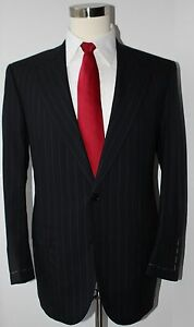 Saintandrews-for-Brooks-Brothers-Gray-Striped-Wool-Two-Button-Suit-41-R-35-Pants