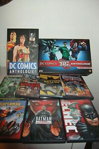 DC-COOMICS-10-DVD-DC-ANTHOLOGIE-volume-cartonato-FRANCESE-IN-BOX-in-cofanetto