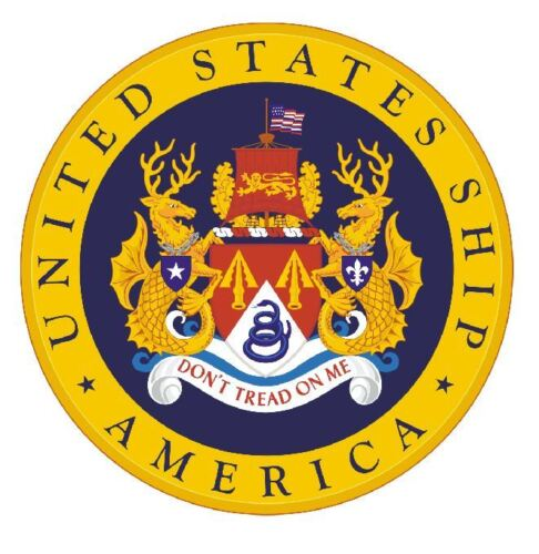 US Ship America Sticker Military Armed Forces Decal M280
