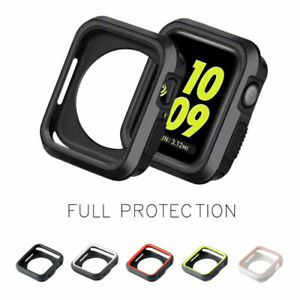 For-Apple-Watch-Series-4321-38-42-40-44mm-Bumper-TPU-Case-Cover-Screen-Protector