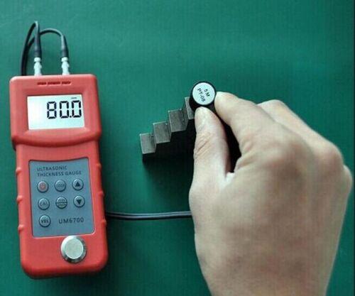 4.5 digits LCD Steel PE cast iron aluminum Ultrasonic Thickness Gauge 1-300mm