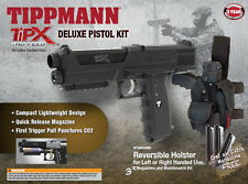 New Tippmann TIPX Pistol Tactical Woodsball Sim Paintball Gun Marker Deluxe Kit
