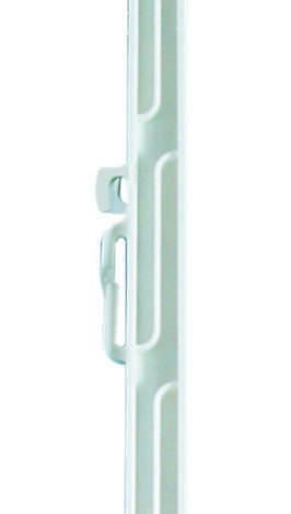 10 Stück im Bündel 150 cm Länge Weidezaunstab Kunststoffstab weiß